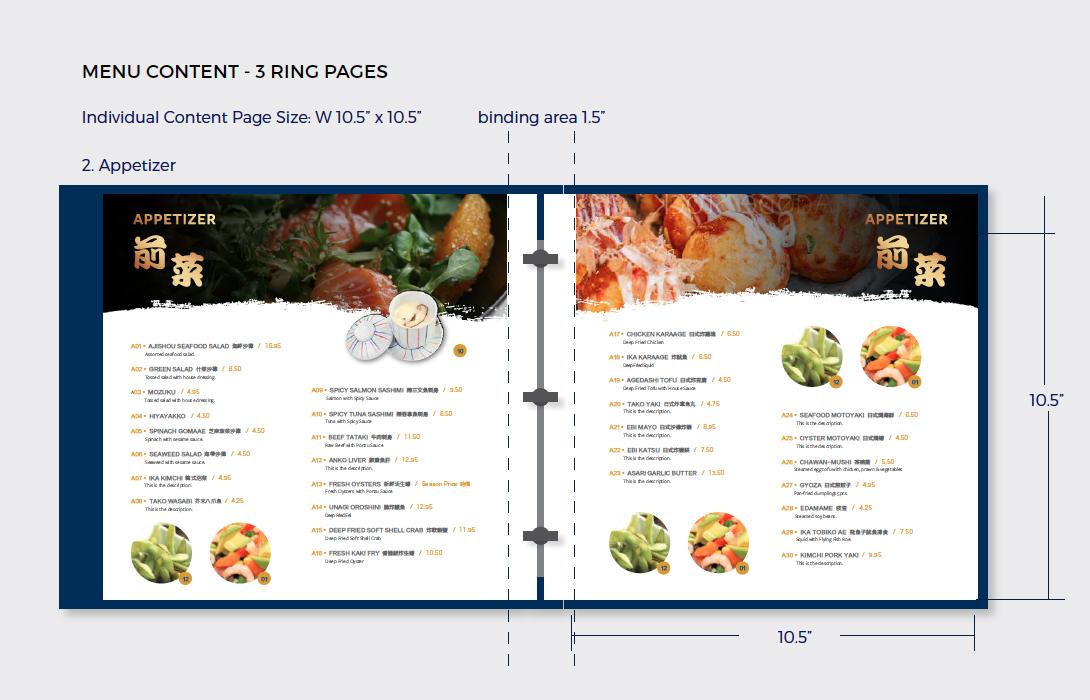 Ajishou Menu Design - Japanese Restaurant Design