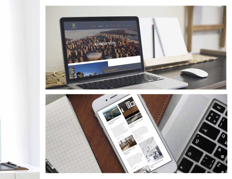 Vancouver Real Estate Branding Design Andy + Sam Realtor Website design