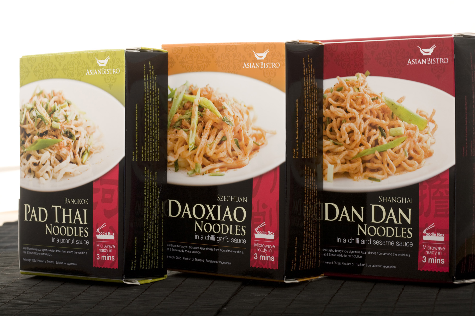 AsianBistro Retail Packaging Nutrition Labelling - Packaging & Branding Design