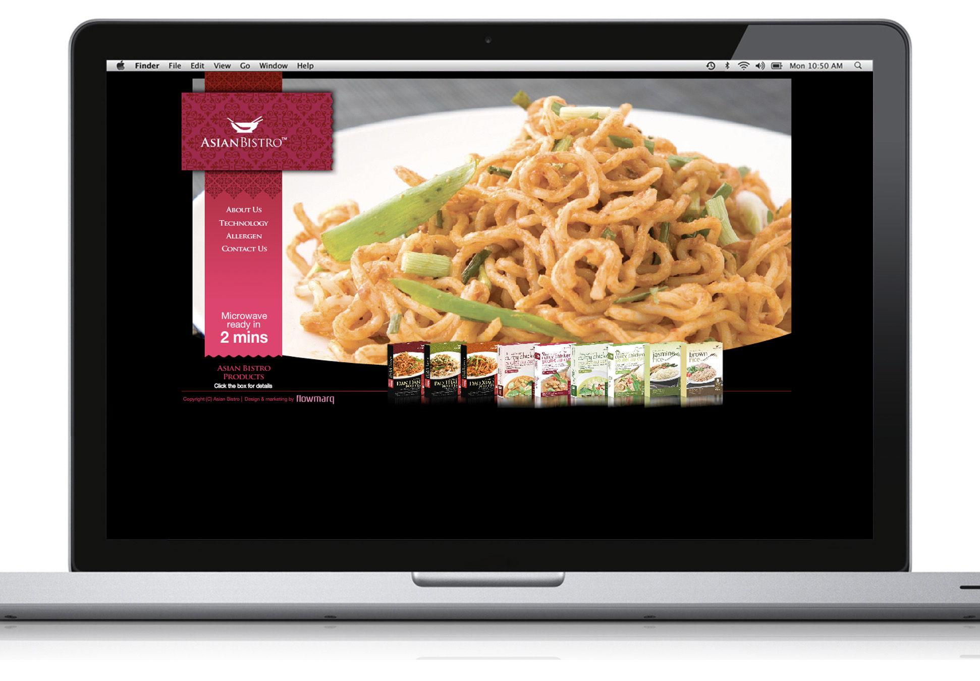 AsianBistro Website Design - Packaging & Branding Design