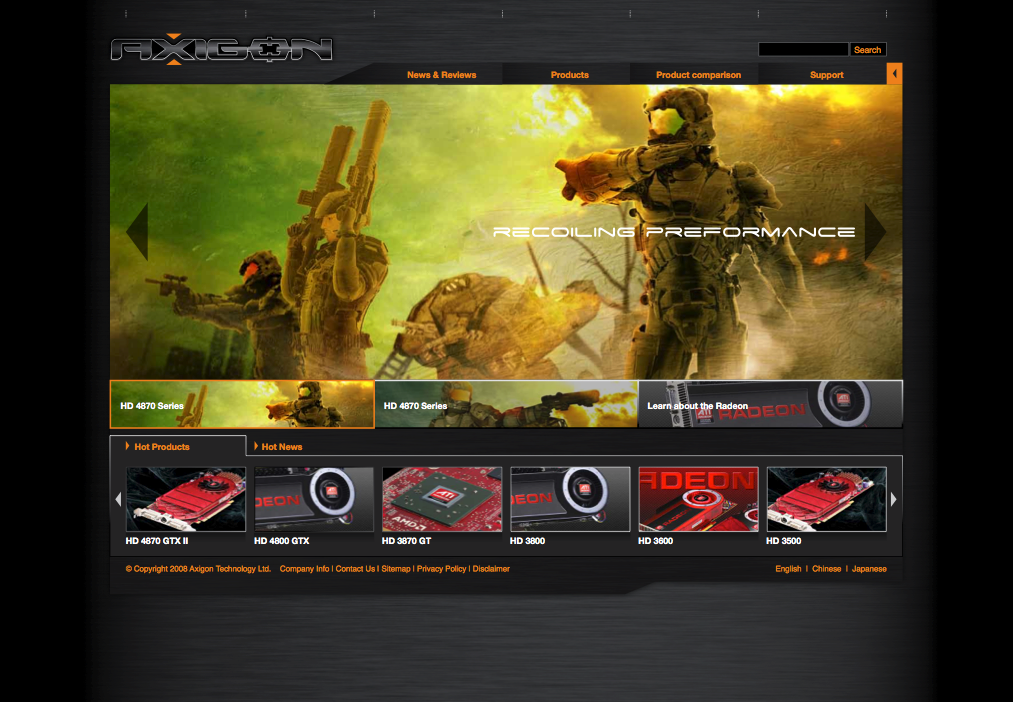 Axigon Gaming Graphic Branding Web Design