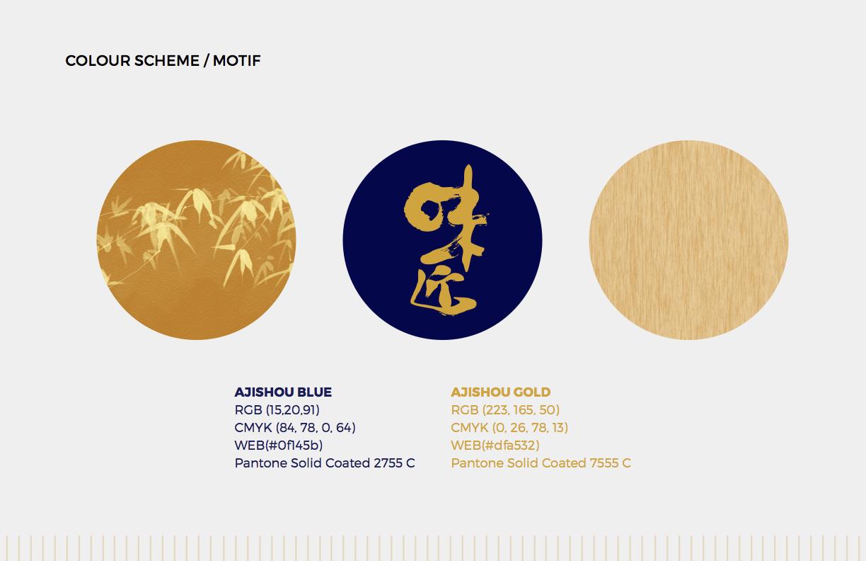 Ajishou Colour Scheme - Japanese Restaurant Design