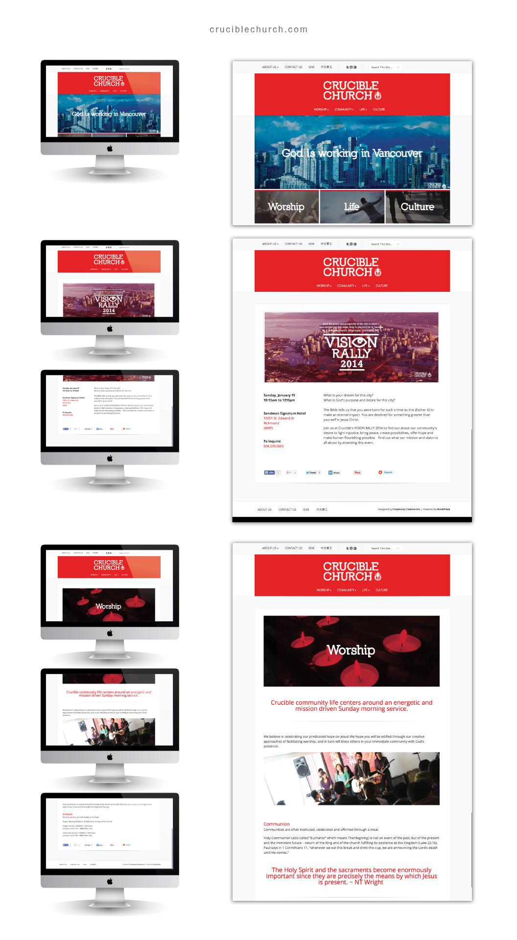 Crucible Church Website & Social Media - Church Branding Design