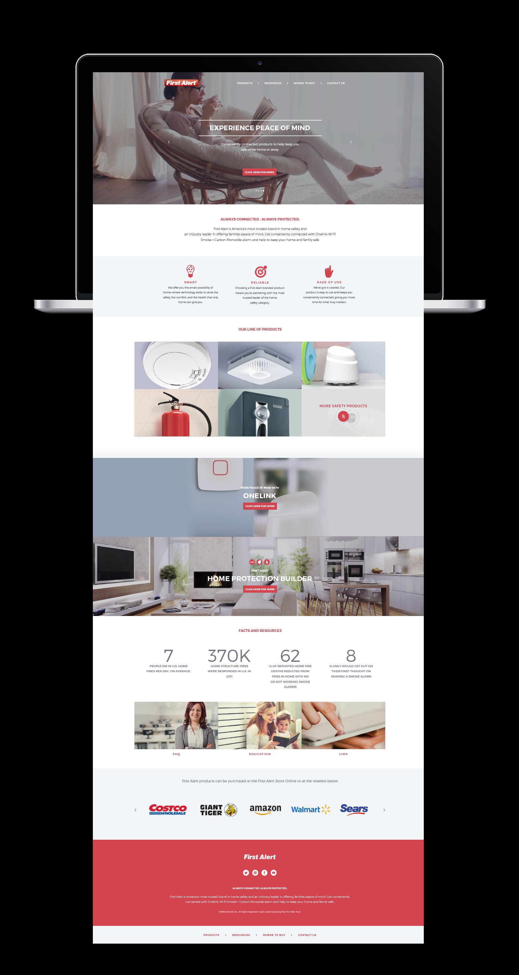 Home Safety Website Design - First Alert | Flowmarq