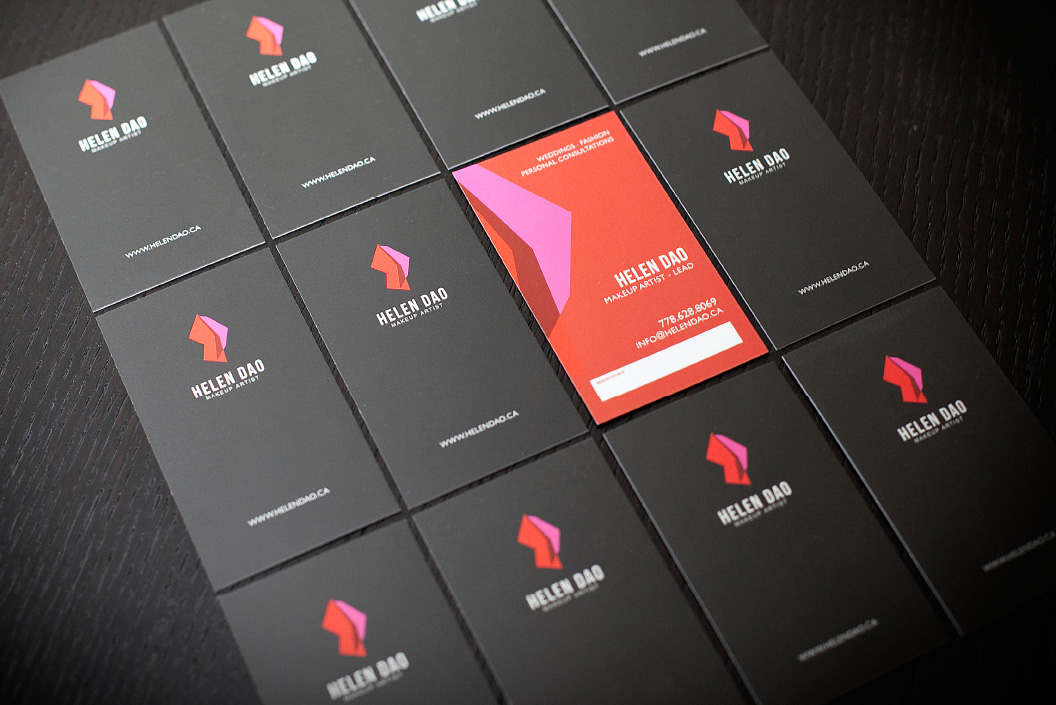 HELEN DAO Business Card - Makeup Artist Branding Design