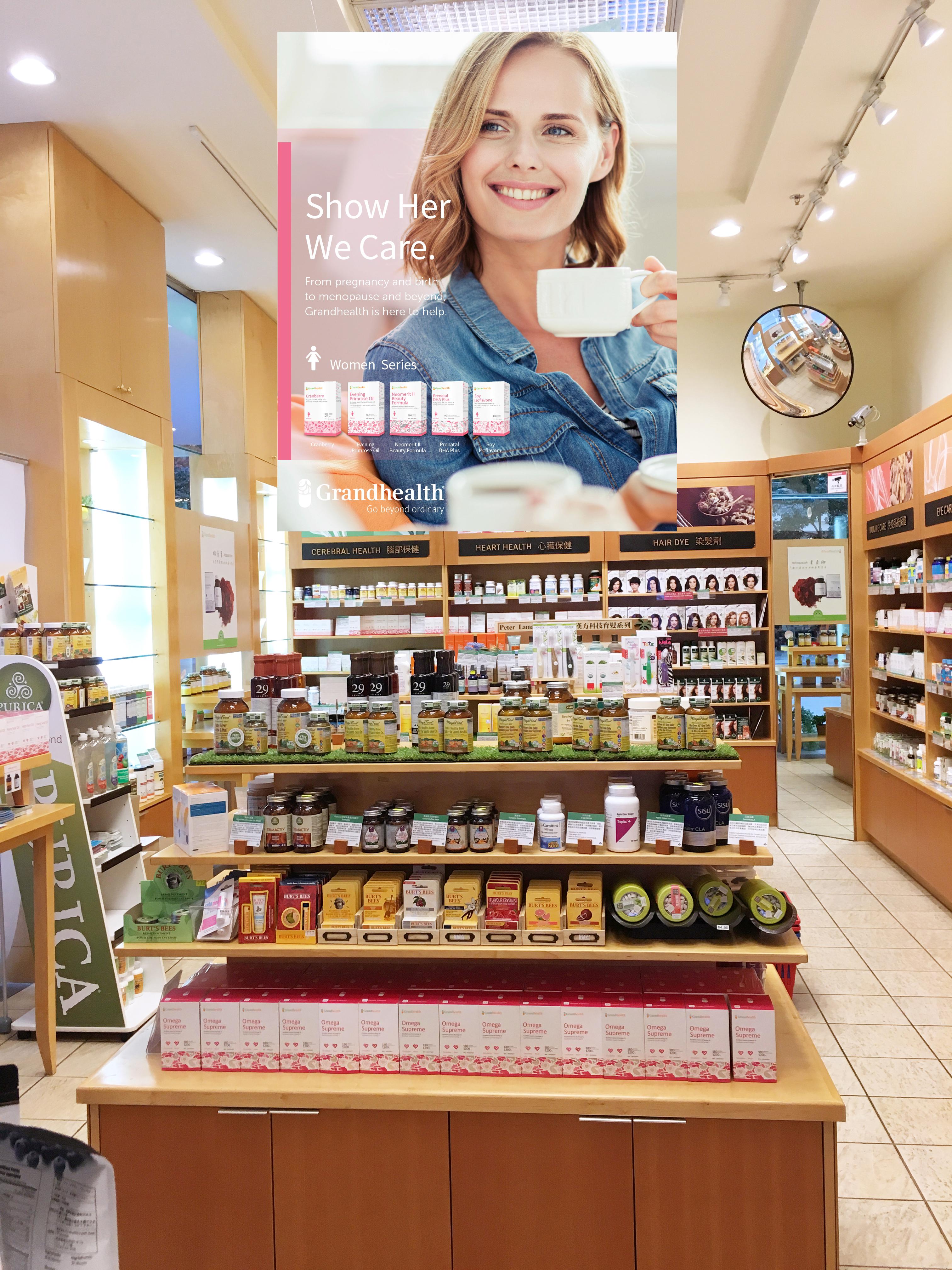 Grandhealth Poster Store Display