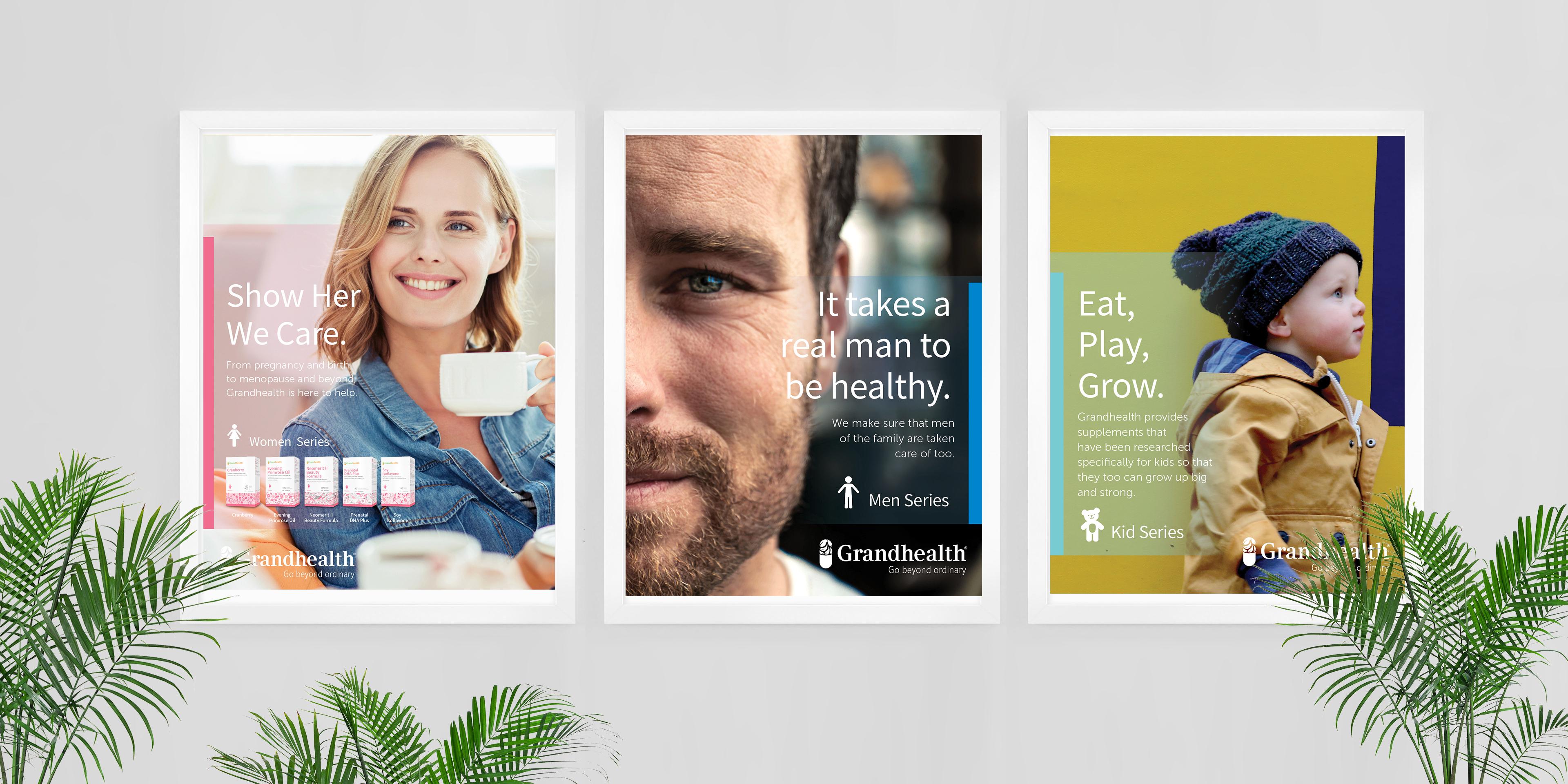 Grandhealth Print Display Advertisement Designs