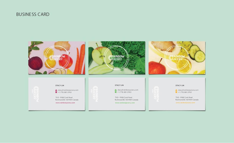 Rainbow Juicery Stationery Design