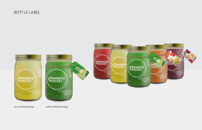 Rainbow Juicery Label Art Direction