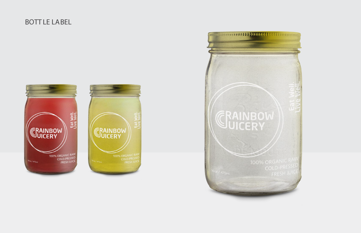 Rainbow Juicery Packaging Label Art Direction