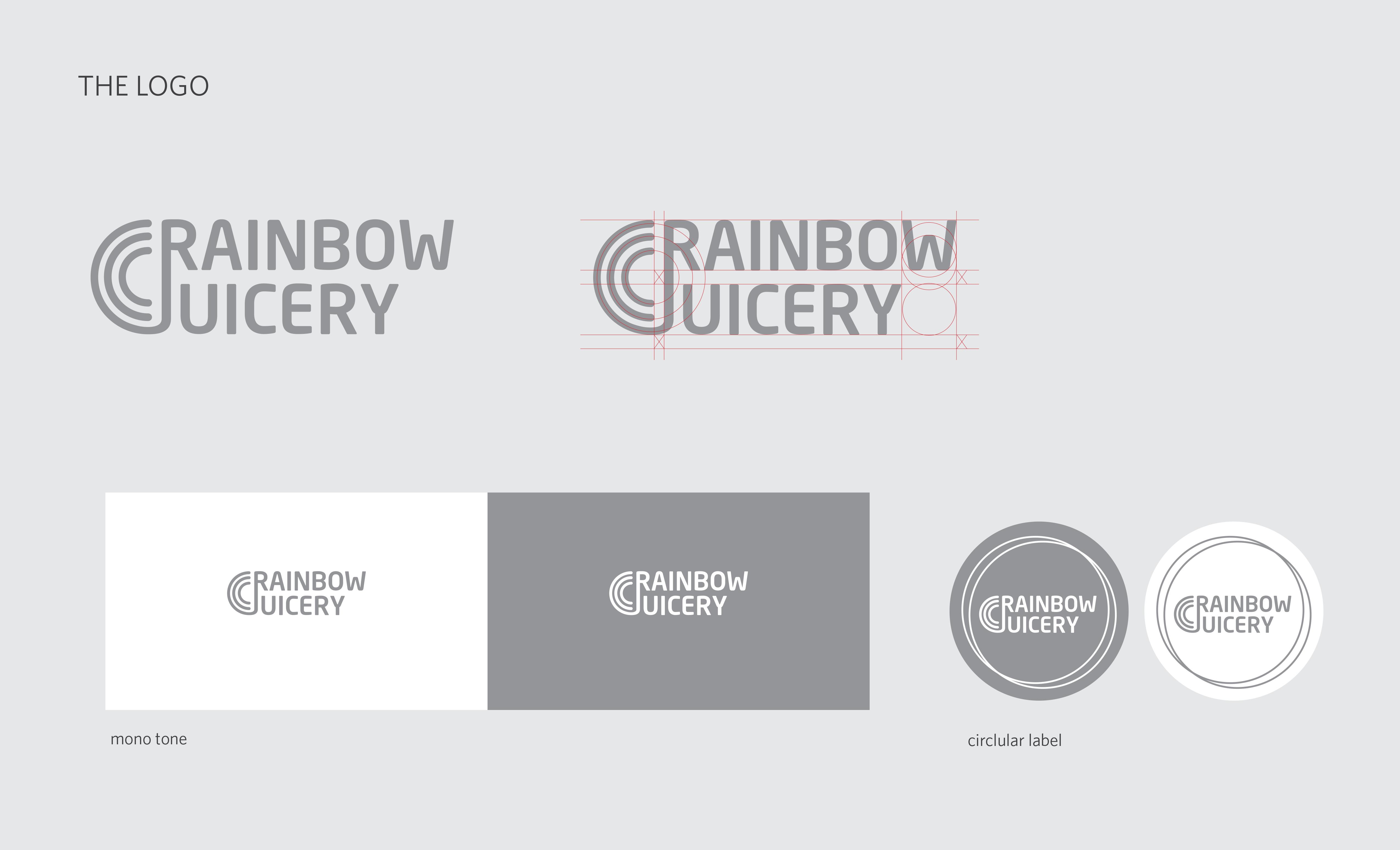 Rainbow Juicery Logo Design