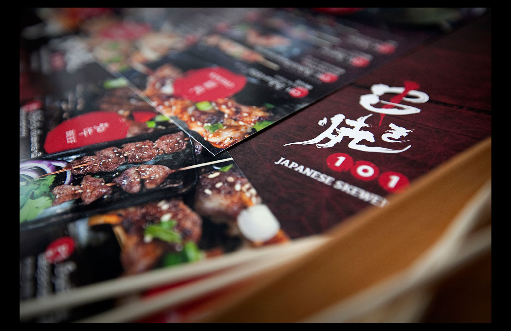 ROBATA 101 - Menu Design & Photography