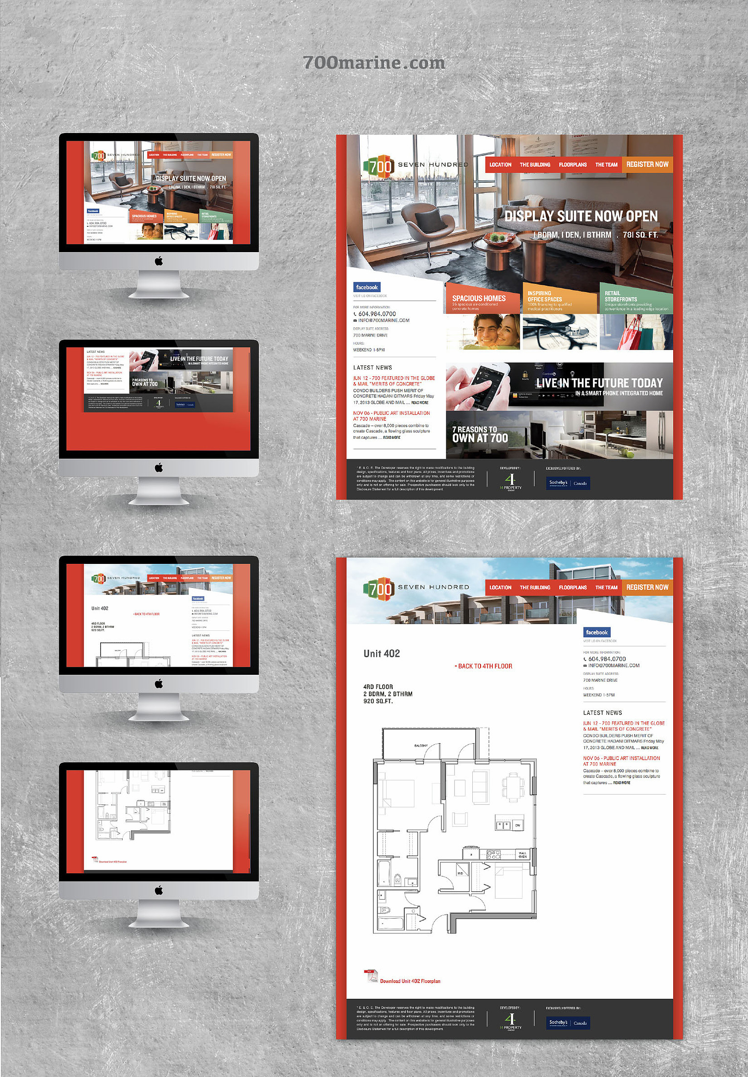 700 Marine Website Design