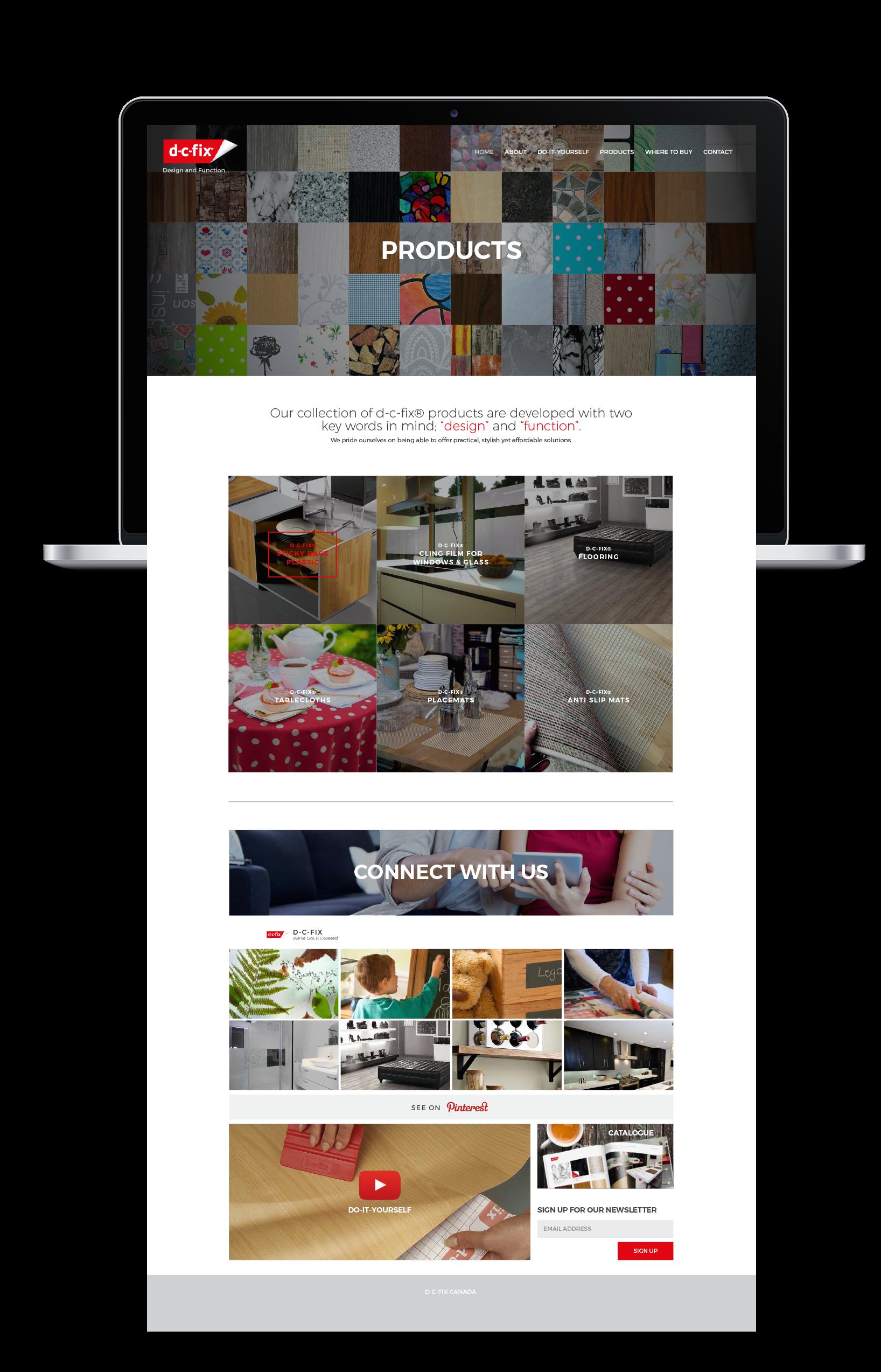 d-c-fix Website Design - Housewares Website