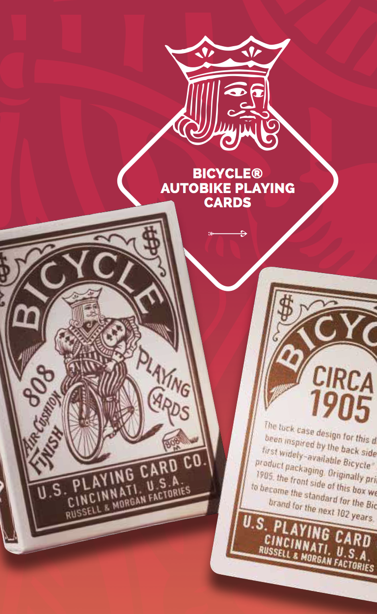Bicycle Autobike Playing Cards - company branding