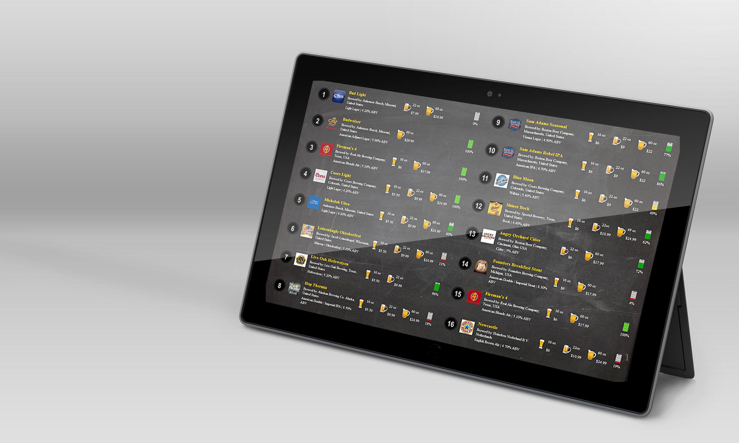 BeerSAVER Website Slide Show - Interaction Design