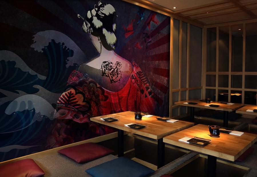 Bonzai Mural - Restaurant Branding
