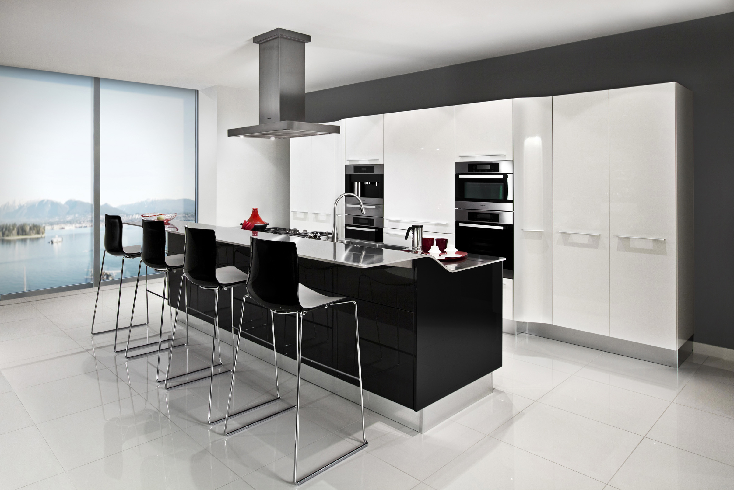 3D RENDERING Kitchen with Island