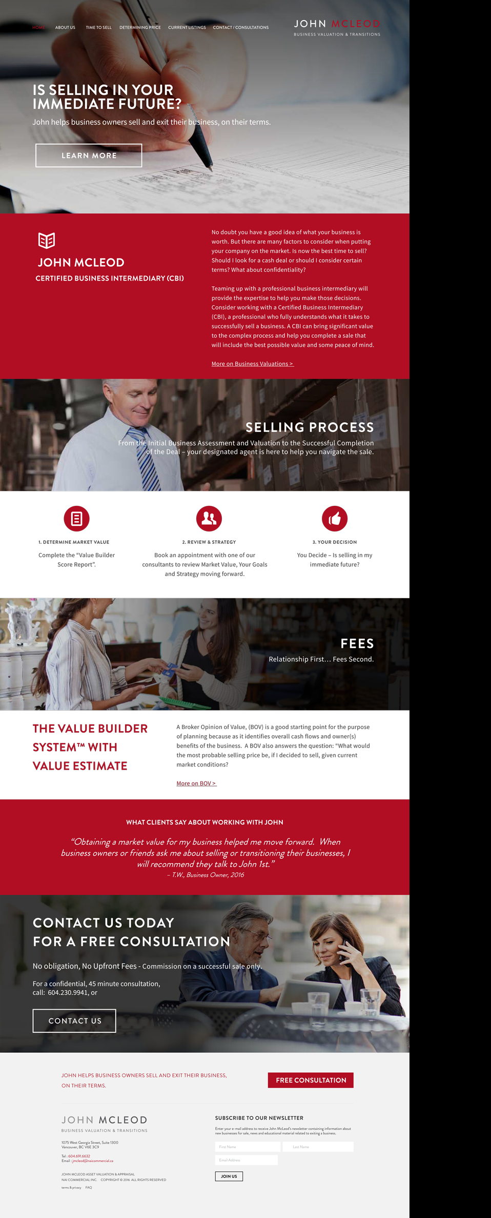 JohnMc Leod Website Design