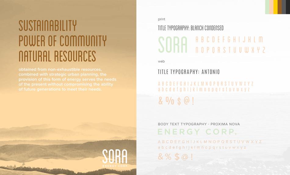 Sora Energy Typography