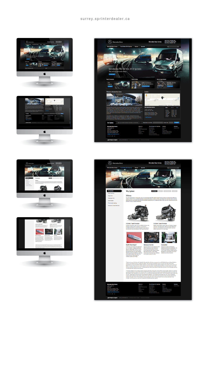 Sprinter automotive web design