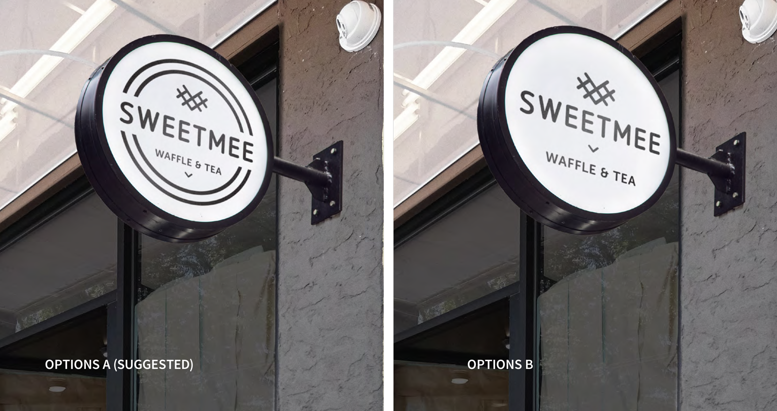 Sweet Mee Signage Options
