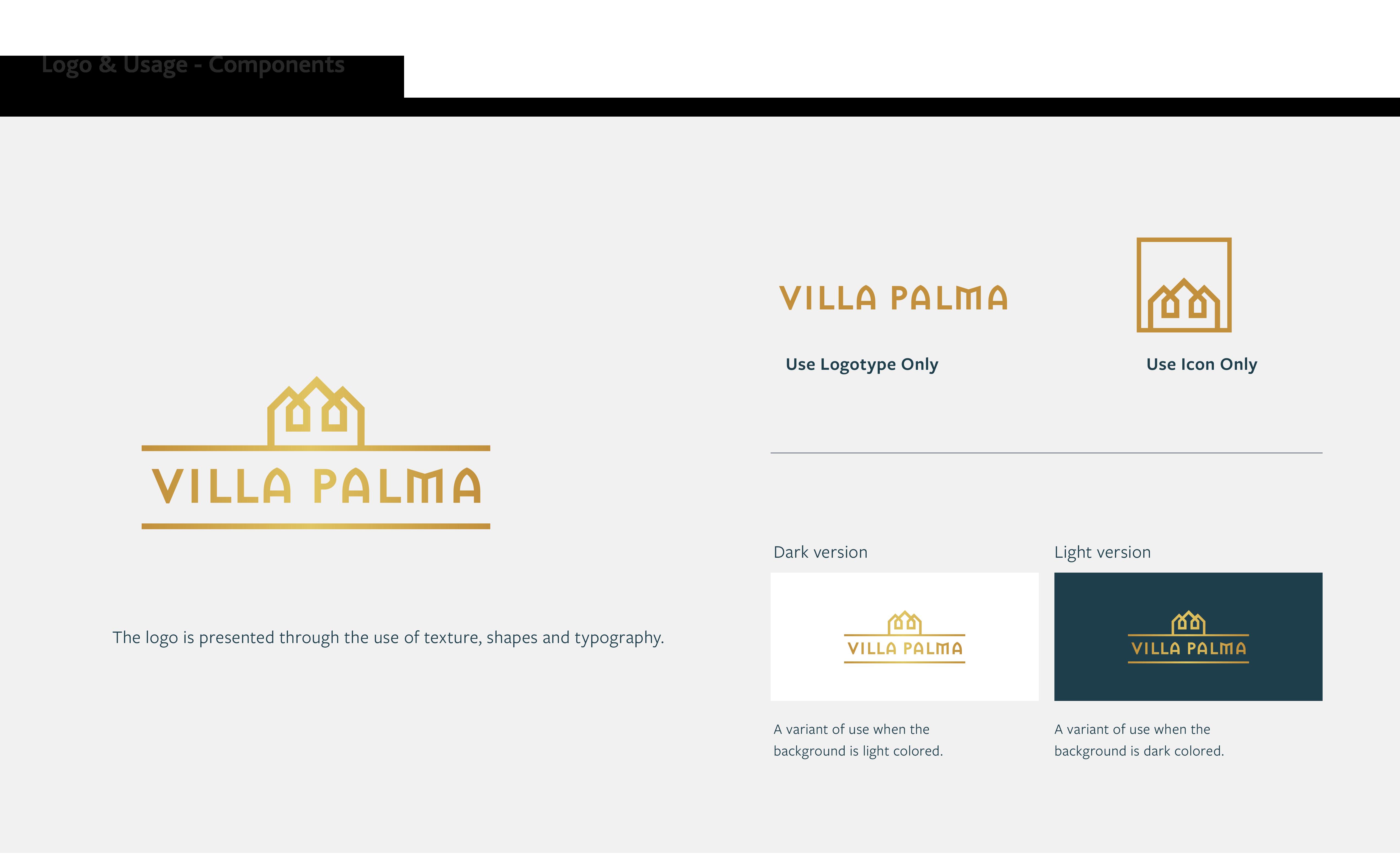 VillaPalma Logo Components