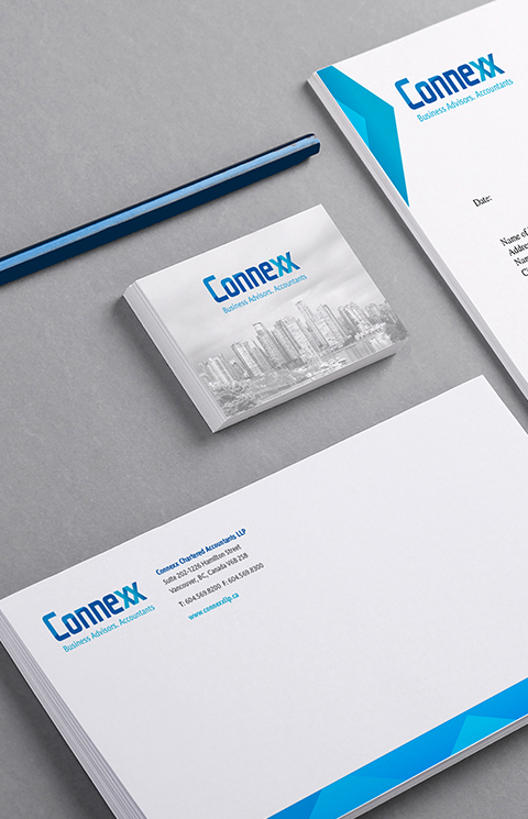 Connexx - branding design stationary