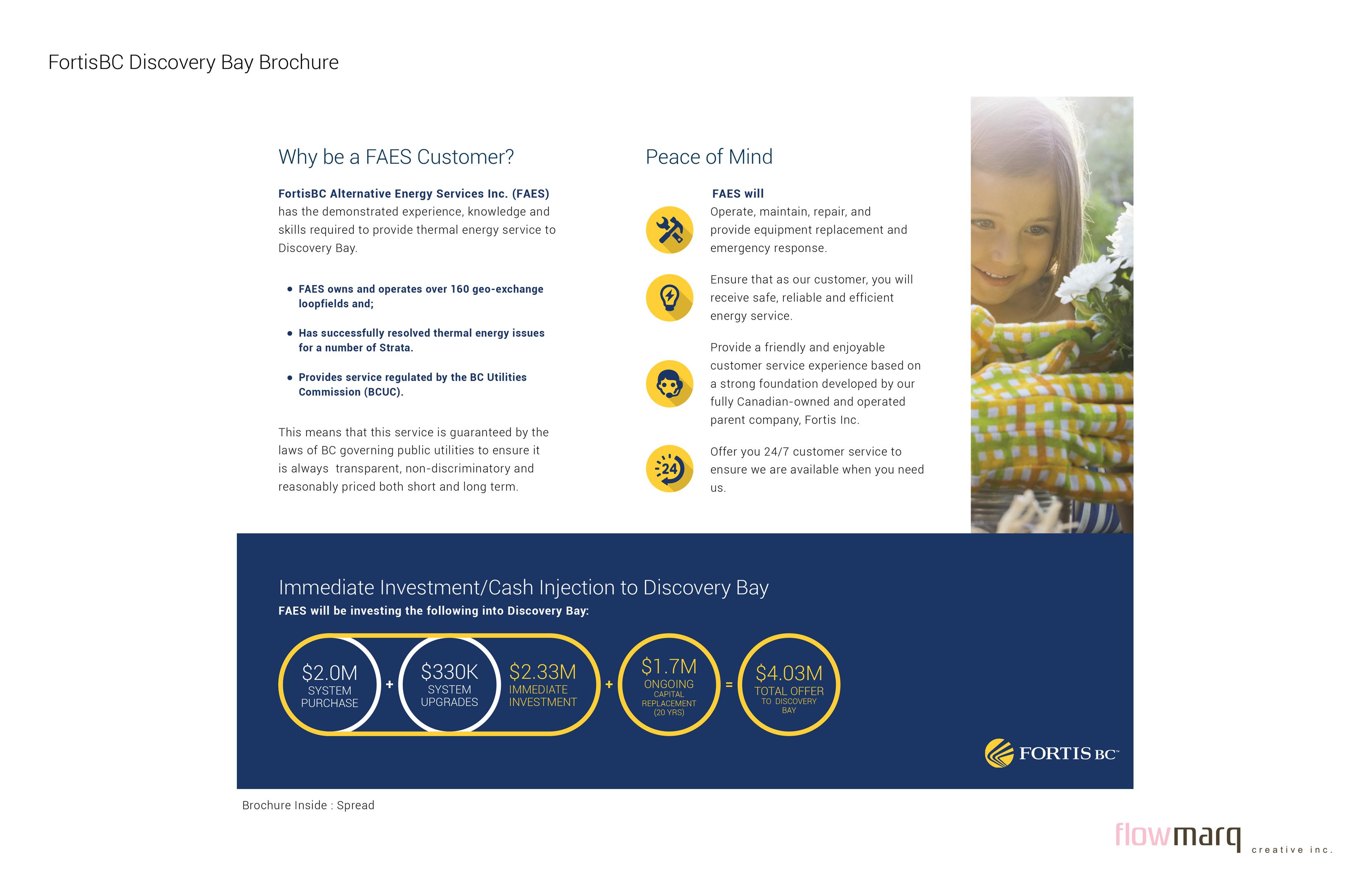 FortisBC Brochure graphic design