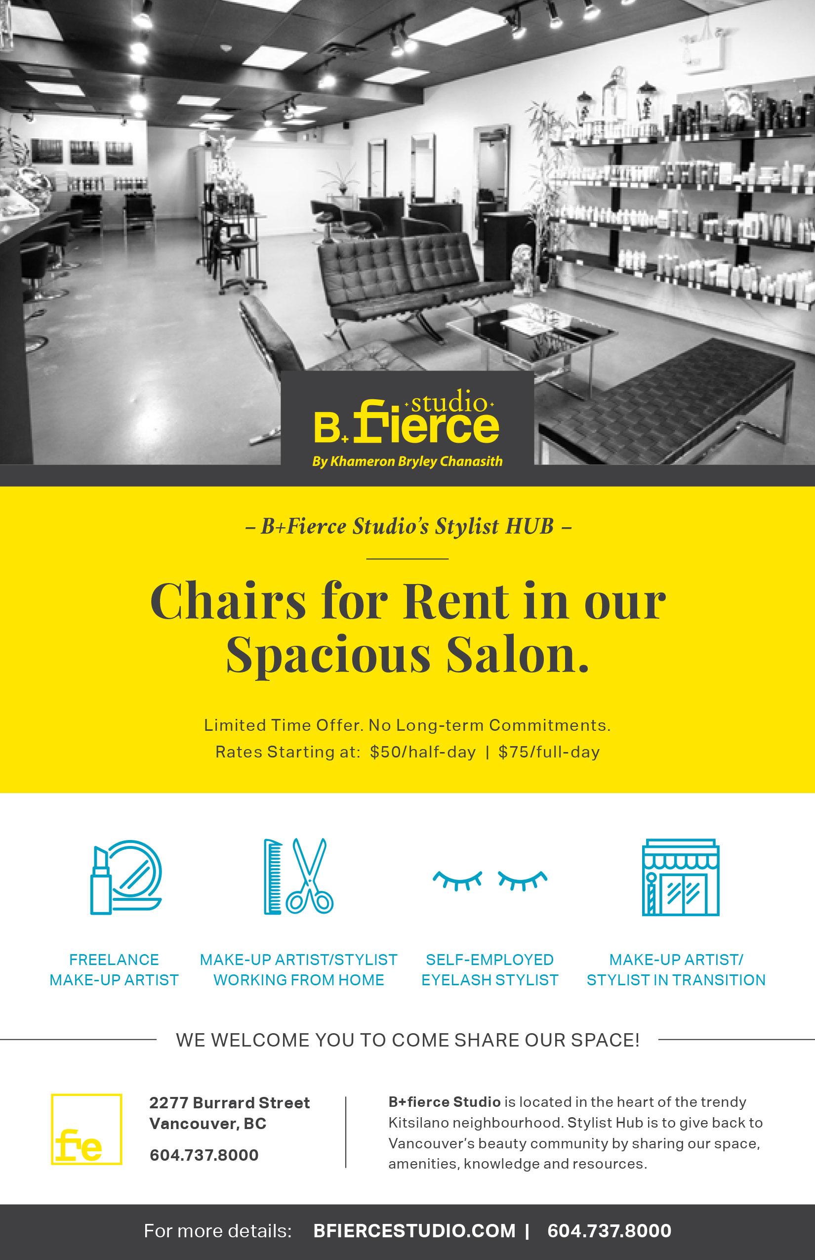 B Fierce - Flyer Design