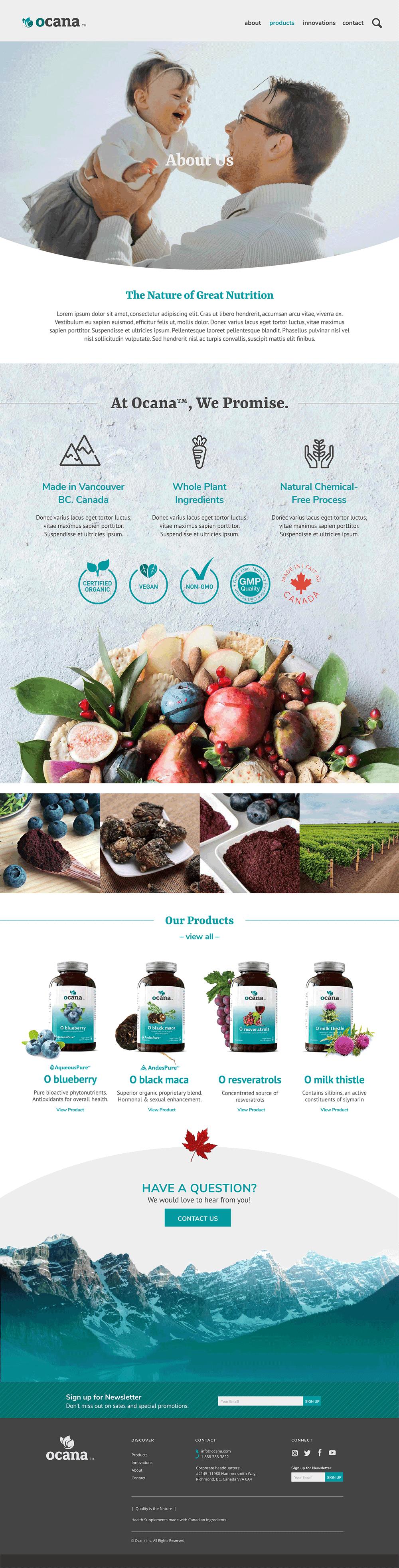Ocana - Website Photography