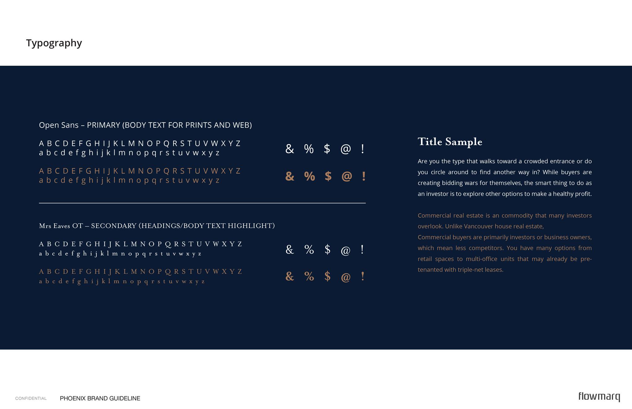 Phoenix - branding guide typography
