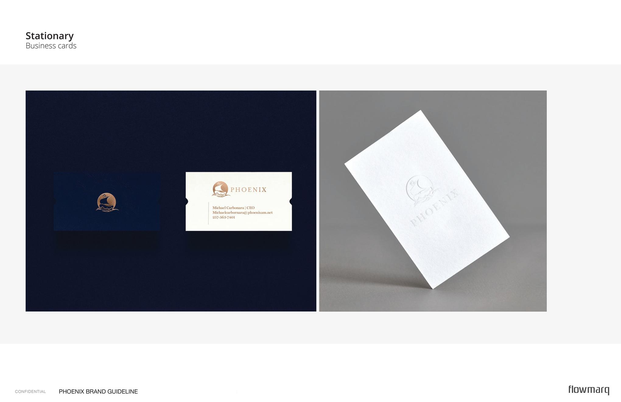 Phoenix - branded business card designs