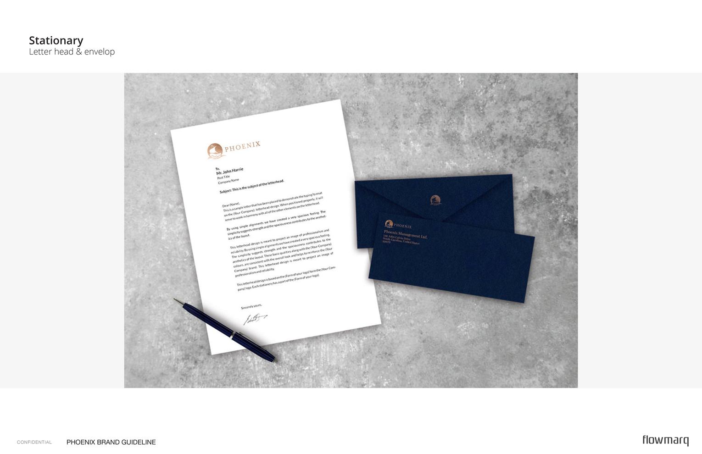 Phoenix - branded stationery including letterheads & envelopes