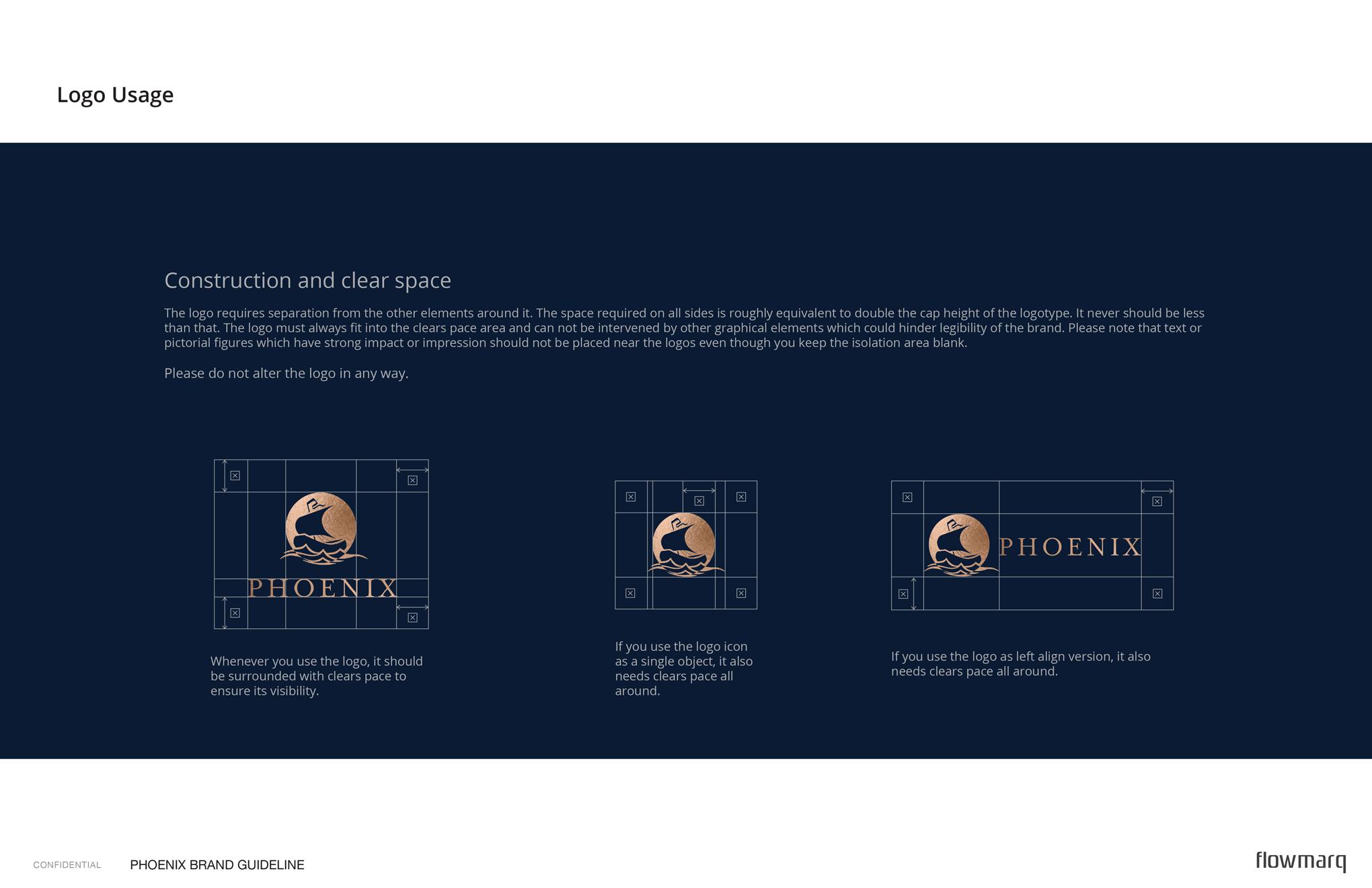 Phoenix - branding guide logo usage & space