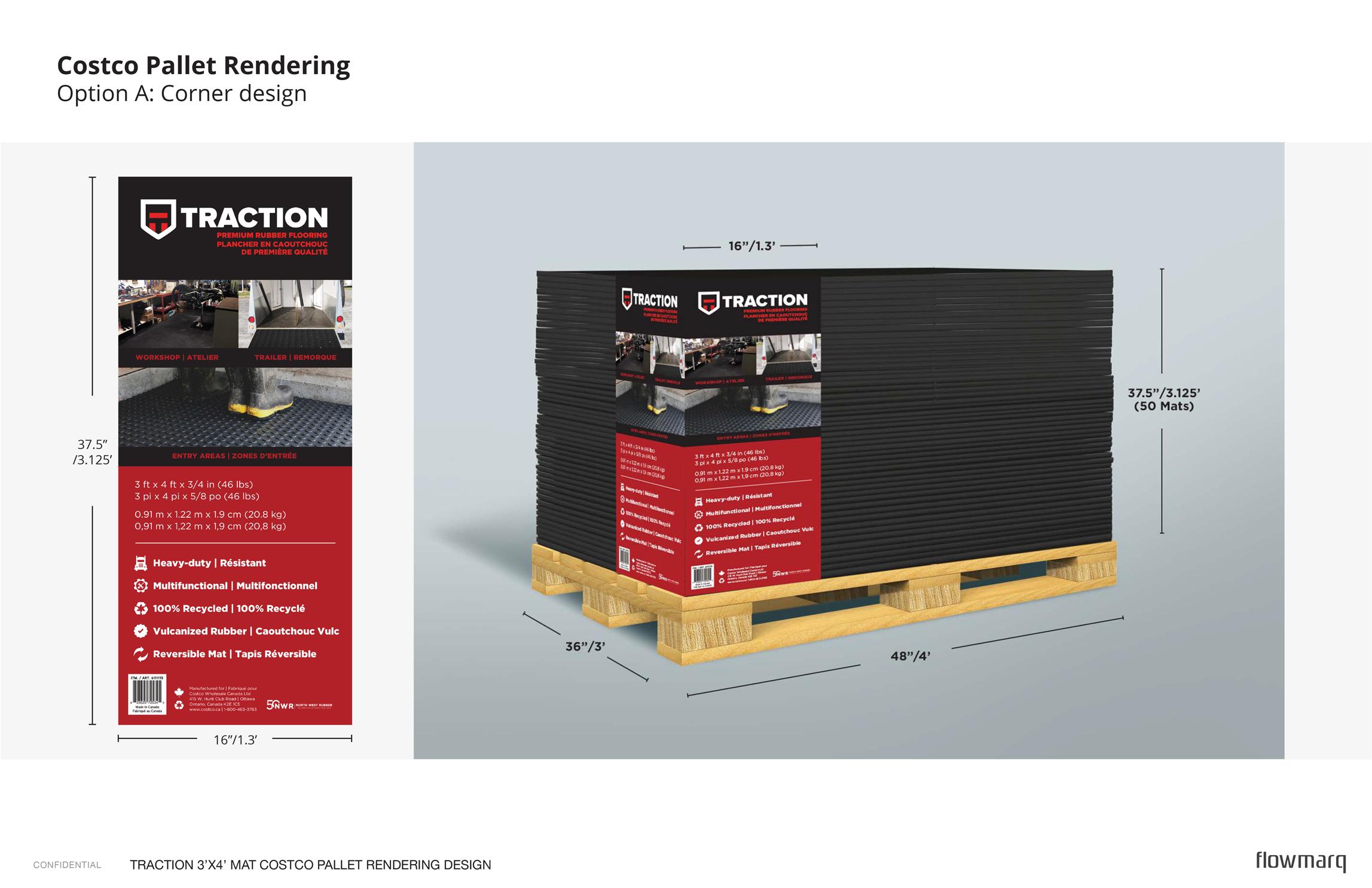 North West Rubber - Costco rendering corner design