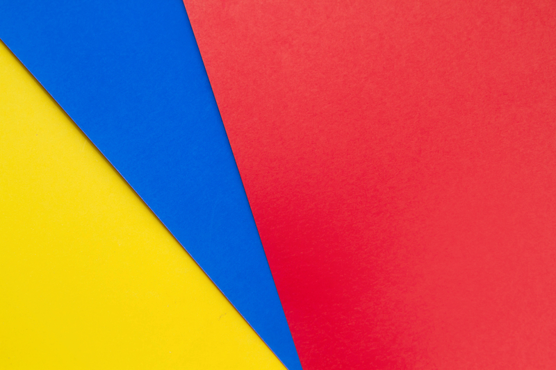 Primary colours - red, blue & yellow